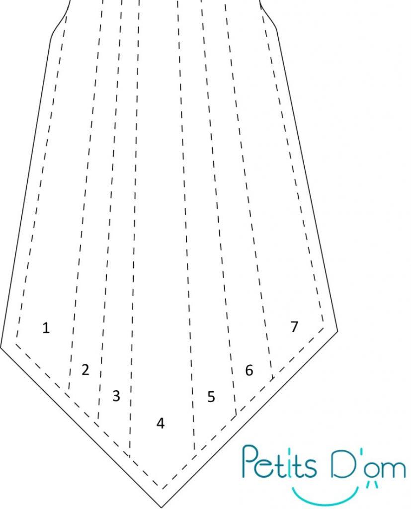 Beau design fabrication habile 100% authentifié La cravate 7 plis [nouveau patron] – Petits D'om