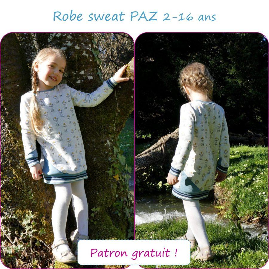 PAZ - Robe sweat du 2 au 16 ans